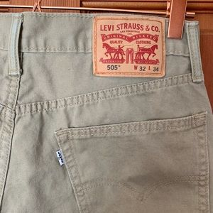 Levi's 505 white tag khaki denim